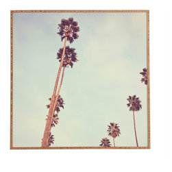 Catherine McDonald Streets Of Los Angeles Framed Wall Art - Bamboo frame with high gloss print