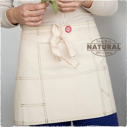 Utility Apron - Café aprons are so versatile and cute. I love this utility option made of heavy duty duck cloth, which is sure to stand up to many years of use in the kitchen, garden or wherever you find use for it.