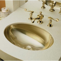 KOHLER - KOHLER K-2602-MF Rhythm Undercounter Lavatory in Mirror French Gold - KOHLER K-2602-MF Rhythm Undercounter Lavatory in Mirror French GoldMake a striking expression of your personal style with the metallic finish of the Rhythm undercounter lavatory. Constructed of durable 20-gauge stainless steel, this lavatory is available in Mirror French Gold and Satin Bronze finishes to enhance your decor.KOHLER K-2602-MF Rhythm Undercounter Lavatory in Mirror French Gold, Features:• Metallic finishes are classic expressions of personalized style