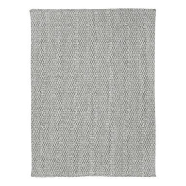 Worthington rug in Cool Grey - This rug is a heavy flat woven construction of solution-dyed polypropylene with a Bouclé texture, creating a terrific up-to-date design. Made in today's most natural colors, this rug is sure to fit with any décor.