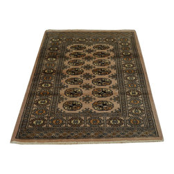 1800-Get-A-Rug - Beige Bokhara Jaldar Design Hand Knotted 100% Wool Oriental Rug Sh18746 - Our Tribal & Geometric hand knotted rug collection, consists of classic rugs woven with geometric patterns based on traditional tribal motifs. You will find Kazak rugs and flat-woven Kilims with centuries-old classic Turkish, Persian, Caucasian and Armenian patterns. The collection also includes the antique, finely-woven Serapi Heriz, the Mamluk Afghan, and the traditional village Persian rug.