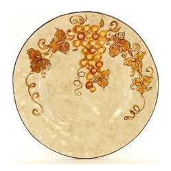Artistica - Hand Made in Italy - VINARIA: Dinner Plate - The Vinaria is an exclusive design for Artistica by the Umbrian renown artist Rale of OperaNova.