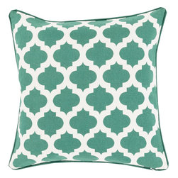"""Surya - Surya MPL-010 Pillow, 18"""" x 18"""", Down Feather Filler - A series of striking designs will surely shine in your space with the inclusion of this dazzling pillow. Hand made in India in 100% cotton, a divine assortment of trellis patterns in exquisitely vibrant coloring allow this perfect piece to effortlessly embody trend worthy, chic charm from room to room within any home decor."""