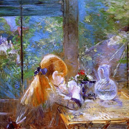 """Art MegaMart - Berthe Morisot On the Veranda - 20"""" x 25"""" Premium Canvas Print - 20"""" x 25"""" Berthe Morisot On the Veranda premium canvas print reproduced to meet museum quality standards. Our museum quality canvas prints are produced using high-precision print technology for a more accurate reproduction printed on high quality canvas with fade-resistant, archival inks. Our progressive business model allows us to offer works of art to you at the best wholesale pricing, significantly less than art gallery prices, affordable to all. We present a comprehensive collection of exceptional canvas art reproductions by Berthe Morisot."""