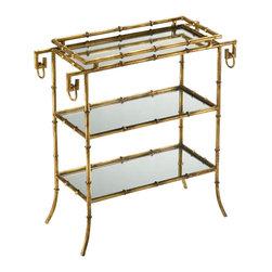 Cyan Design - Bamboo Tray Table-04208 - Bamboo tray table - gold