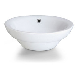 Xylem Group - Semi-Recessed Vitreous China Vessel White - Semi-Recessed Round Vitreous China Vessel - White