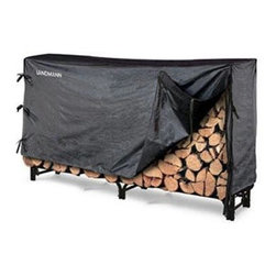 "Landmann - 8 ft. Log Rack And Cover 2 Section - Made of strong tubular steel 32 mm tube and 1.0 mm thickness this rack keeps your wood stable safe and off the ground away from dampness and bugs. Its black weatherproof powder coating resists rust. Includes fitted zipperless PVC cover to protect firewood from the elements. Easy assembly with hardware included. Holds two thirds face cord of wood. Measures 95.5 ""Lx13.5""Wx49 ""H"