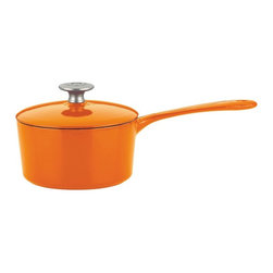 Mario Batali by Dansk - Mario Batali by Dansk Classic 2 qt. Saucepan - Persimmon Multicolor - 826834 - Shop for Sauce and Saute Pans from Hayneedle.com! Amp up your kitchen chops with the Mario Batali by Dansk Classic 2 qt. Saucepan in Persimmon. This perfectly sized sauce pan has the steep sides long handle and tight-fitting lid that makes it easy to make zesty sauces perfect rice and even warms up soup. It takes all the great properties of classic cast iron and adds a glossy persimmon enamel coating to make it pop. Designed to work on any cooking surface this beauty goes from stovetop to oven to table and is even dishwasher-friendly.