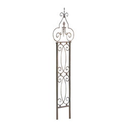 H Potter - H Potter Garden Scroll Trellis - You've heard of a garden stroll. How about a garden scroll? This twisty trellis has flourishes galore in brown, powder-coated iron that will look great for years. Use it as a tall backdrop or as a support for climbing plants. At only 18 inches wide, it would also work well in most large containers.