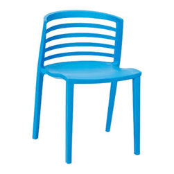"""LexMod - Curvy Dining Side Chair in Blue - Curvy Dining Side Chair in Blue - Indulge in no-frills, straightforward contemporary style with this modern multi-purpose chair. Made from heavy-duty molded plastic this chair was built to last. Eye catching and comfortable, this reproduction brings fashion and flavor to your space. Set Includes: One - Curvy Plastic Chair Durable Molded Plastic, Easy to Clean, Fully assembled Overall Product Dimensions: 21""""L x 19.5""""W x 30""""H Seat Height: 17""""H - Mid Century Modern Furniture."""