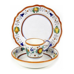 Artistica - Hand Made in Italy - Fruttina: 3/Pcs Pre-Pack: Dinner Plate + Bowl + Mug - Fruttina Collection
