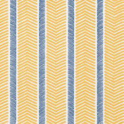 Serena & Lily - Herringbone Wallpaper Maize - We love a classic herringbone. With looser lines in fabulous color pairings, it's a look we find downright irresistible. To ensure each palette printed perfectly, we worked closely with one of the country's most historic wallcovering manufacturers. Maize and navy on a white ground.
