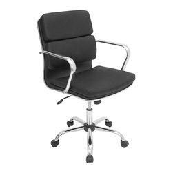 "Lumisource - Bachelor Office Chair, Black - 23.5"" L x 23"" W x 36.5 - 40.25"" H"