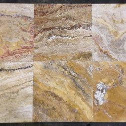 Autumn Blend Travertine Tiles - Autumn Blend Filled & Honed Travertine Tiles. Please visit www.stone-mart.com or call (813) 885-6900 for more information.