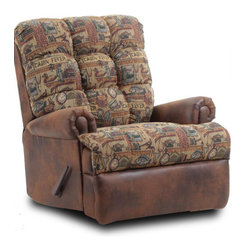 Chelsea Home Furniture - Chelsea Home Cabin Fever Handle Recliner in Cabin Fever/Dodge Saddle Microfiber - Cabin Fever Handle Recliner in Cabin Fever/Dodge Saddle Microfiber belongs to Verona II collection by Chelsea Home Furniture