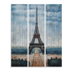 Bassett Mirror - Bassett Mirror Hand-Painted Canvas, Eiffel Tower - Eiffel Tower