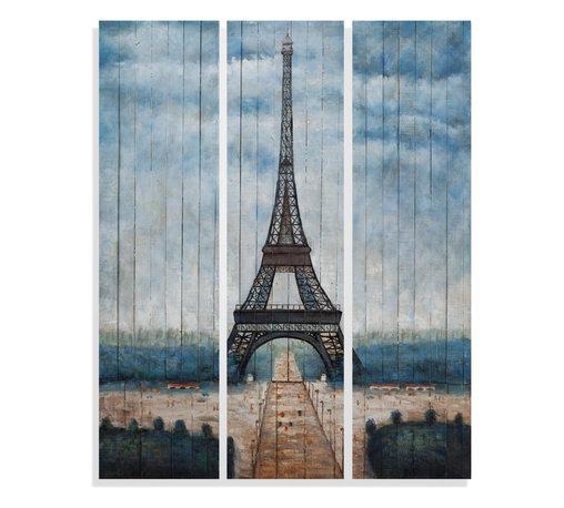 Bassett Mirror - Bassett Mirror Hand-Painted Canvas, Eiffel Tower - Eiffel Tower