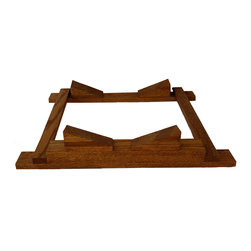 Barrel Cradle - The Barrel Cradle holds the barrel in a stable horizontal position for a single setting or the bottom row of a stacked configuration.  This item is only sold when ordered with barrel(s) as they are custom made to fit the barrel.  They are shipped at no additional shipping cost.