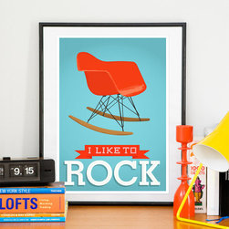 Eames Poster by ReStyle Shop - This print is modern and clever. I love that Eames rocker!