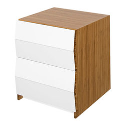 Brave Space Design - Planar 2Fold - Keep everything organized and in place with a modern bamboo chest of drawers. The top drawer is perfect for storing accessories, while the lower drawer can handle larger items. It's the perfect addition to any modern bedroom.