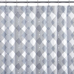 Spiro Shower Curtain - Splash the bath with fresh color and energetic pattern. Concentric diamonds in fine-
