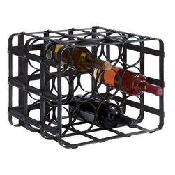 Benzara - Metal Wine Rack Bold Style Statement - Feel pride for having something great at bar area. 54404 Metal Wine Rack creates a feeling of having something unique because of its unique design concept that makes it a living style statement.