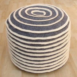 Nuloom - nuLOOM Handmade Casual Living Indian Cinabun Pouf - Enhance your decor with this stylish modern pouf made of this soft felt.