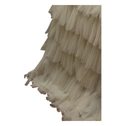 Couture Dreams - Couture Dreams Chichi Ivory Bed Skirt - NEW...Couture Dreams Chichi Ivory Petal Bedskirt