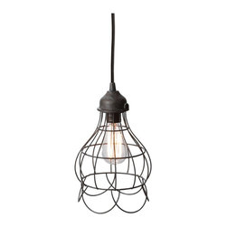 Lazy Susan - Lazy Susan LZS-225033 Wire Rose Pendant Light - You can't resist the classic charm of this delicate iron-wire design. Conjuring petals drooping from a bulb, this pendant melds exquisite design with dependable lighting. With a hand-applied finish and sturdy construction, this pendant strikes a perfect balance between enviable aesthetic and genteel practicality.