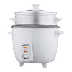 BRENTWOOD - Brentwood TS-480S Rice Cooker with Steamer (15 Cups; 900W) - 900W
