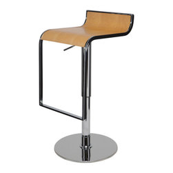 Nuevo Living - Nero Bar Stool, Light Wood - Nero Bar Stool is a top notch reproduction of the original design. This modern design makes the stool very versatile and offers height adjustability so you can use it just about anywhere. It will definitely make a statement in your home, office, lounge or wherever you so desire.