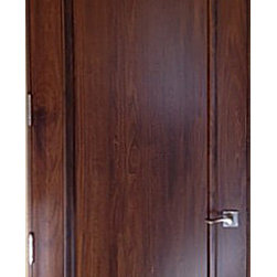Tuscany Style Doors Solid Wood Round Top Walnut Door A