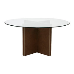Vanguard Furniture - Vanguard Furniture Yates Upholstered Dining Table Base L117-T - Features: