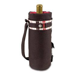 Picnic time - Wine Sack - Moka Collection - Those who enjoy wine will appreciate the style and simplicity of the Wine Sack-Moka, an insulated single-bottle tote with an adjustable shoulder strap. It features a stainless steel waiter-style corkscrew conveniently stored in its own secure pocket. The Wine Sack-Moka is made of dark brown 600D polyester canvas with complementing Moka Stripe accent trim. The tote is fully-insulated to keep your wine at the perfect temperature until you're ready to uncork it. Perfect for any occasion. When you'd like to bring your own wine to share, let the Wine Sack help you take it there!