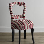 "Haute House - Haute House ""Candi"" Chair - Exclusively ours. With its shapely open back and festive candy-striped upholstery, this little chair adds big fun to any living space but looks particularly charming in the dining room. Alder wood frame. Rayon/polyester upholstery. Hand-painted st..."