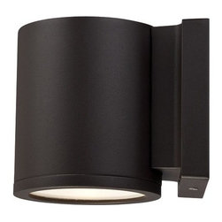W.A.C. Lighting - W.A.C. Lighting WS-W2605-BZ Tube Modern / Contemporary LED Outdoor Wall Sconce - Precise engineering using the latest energy efficient LED technology with a built-in reflector for superior optics: An appealing cylindrical profile perfect for accent and wall wash lighting.