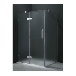 Vigo Industries - 32 in. x 40 in. Frameless Chrome Shower Enclosure - Update your bathroom with this uniquely stylish and totally frame less Vigo rectangular-shaped shower enclosure. Clear PVC side gasket installs vertically onto door to ensure a water-tight seal between door and side panel when the door is in the closed position.