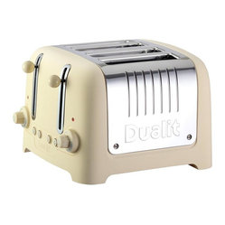 Dualit - Dualit Lite 4 Slot Traditional Design CHUNKY Commercial Toaster, Cream Soft Touc - This Dualit 4 Slot Lite Commercial Toaster features a traditional design with Chunky shape, combining Dualit classic toaster styling with an elegant soft touch finish and high quality stainless steel cover. The Peek & Pop ® function allows you to check the bread while toasting without cancelling the toasting cycle giving greater browning control. Incorporating a bagel function (toasting one side and warming the other) as well as a defrost selection. Easy to clean and maintain with a concealed and removable crumb tray, extra-wide 36mm slots with high lift mechanism to remove small items, electronic control timer, 8 setting temperature dial with accurate browning control and automatic pop-up.