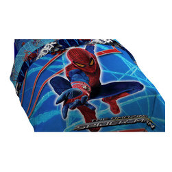 Jay Franco and Sons - Marvel Amazing Spider-Man Stick With Me Twin Bed Comforter - Features: