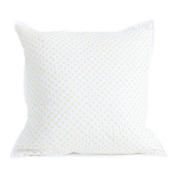 Little Auggie - Cross Stitch Quilted Decorative Pillow Cover in Fern - Cross Stitch Quilted Decorative Pillow in Fern