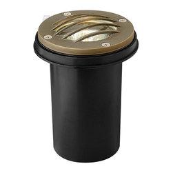 "Hinkley Lighting - Hinkley Lighting HK-16704-MZ Hardy Island Grill Top Cast Brass Well Light - 3 3/4"" wide solid cast brass  grill top well light in weathered brass with anti corrosion PVC burial sleeve.  20 watt MR16 maximum bulb. Extended 15 year limited warranty."