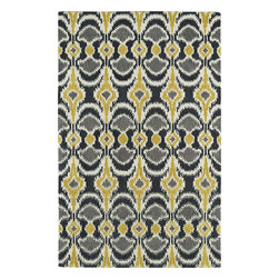 """Kaleen - Kaleen Global Inspirations GLB03 (Yellow) 3'6"""" x 5'6"""" Rug - This Hand Tufted rug would make a great addition to any room in the house. The plush feel and durability of this rug will make it a must for your home. Free Shipping - Quick Delivery - Satisfaction Guaranteed"""