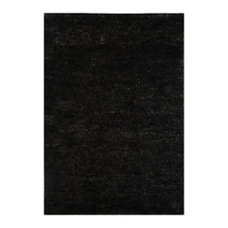 """Safavieh - Rectangular Hemp Rug in Liquorice (5 ft. x 8 ft.) - Size: 5 ft. x 8 ft.. Hand knotted. Made of hemp. Made in IndiaSafavieh's Bohemian Collection is all-organic, with exquisitely fine jute pile woven onto a cotton warp and weft, and an earthy natural color palette. The high quality jute chosen for our Bohemian rugs is biodegradable and recyclable, with an innate sheen because it is harvested only from Cannabis Sativa (commonly known as the """"true hemp"""" plant), a quickly renewable resource that excels in length, durability, anti-mildew and antimicrobial properties. Safavieh brings fashion excitement to the eco-friendly rug category with the Bohemian collection's unique patterns, ribbed textures and remarkable hand. The rugs are washed to soften the yarn, and then brushed to an even more lustrous sheen. Hand Knotted in India."""