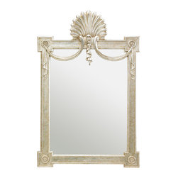 Stanley Furniture - Charleston Regency Regent's Mirror - Champagne Silver Leaf Finish - The Regent�۪s Mirror incorporates a delicate draped swag, applied scallop and rosette details, which are hallmarks of Regency style. Its proportion makes it perfect for the bedroom, a hallway or above a mantle. Made to order in America.