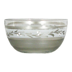 """Pewter Vine 6"""" Bowl - This is a 6"""" bowl which is hand painted with a pewter vine.  Perfect for the holidays or any season.  Something to be handed down from generation to generation. Proudly hand painted in the USA."""
