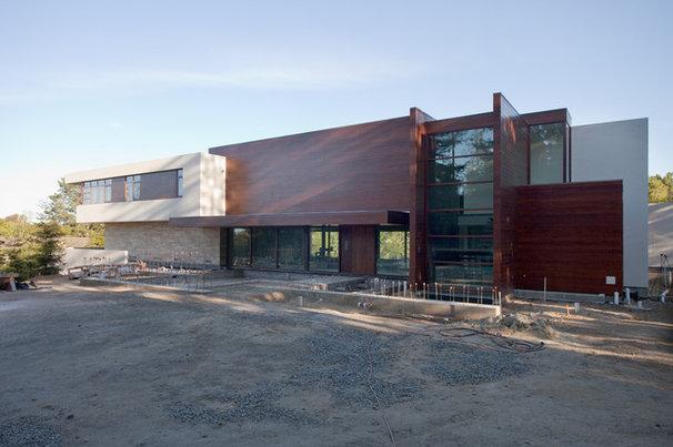 Contemporary Exterior by Lencioni Construction