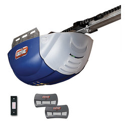 None - Genie DC 1022-2TX Chain Garage Door Opener - Get that garage door up in a hurry with this chain drive door opener. This garage door opener comes with two 3-button remotes and a wall button.