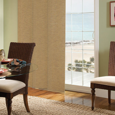 Comfortex - Comfortex Envision Panel Blinds: Provincial - Comfortex Panel Tracks offer a modern alternative to standard window treatments that's perfect for patio doors, wide windows or as a room divider.  This collection is made of light filtering fabrics.