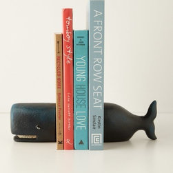Anthropologie - Victorian Whale Bookends - This very sweet whale will hold up my books, no matter how heavy the stack gets.