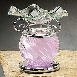Artico - Lavender Spiral Decor Collectible Glass Oil Burner Warmer Aromatherapy - This gorgeous Lavender Spiral Decor Collectible Glass Oil Burner Warmer Aromatherapy has the finest details and highest quality you will find anywhere! Lavender Spiral Decor Collectible Glass Oil Burner Warmer Aromatherapy is truly remarkable.